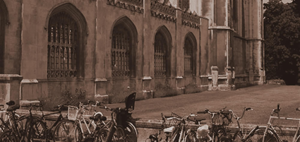 A Cambridge college with bikes